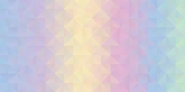 Background with a pastel colored rainbow low poly design Free Vector