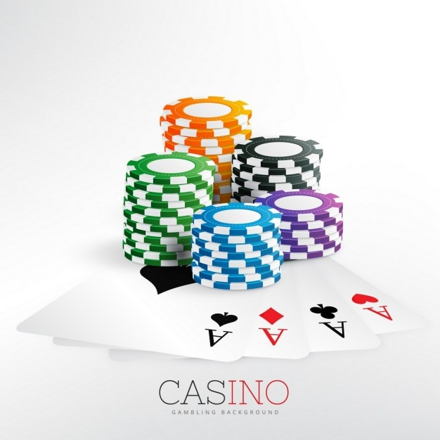 Background with poker chips Vector | Free Download