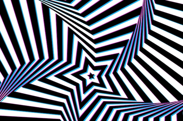 Background with psychedelic optical illusion Free Vector