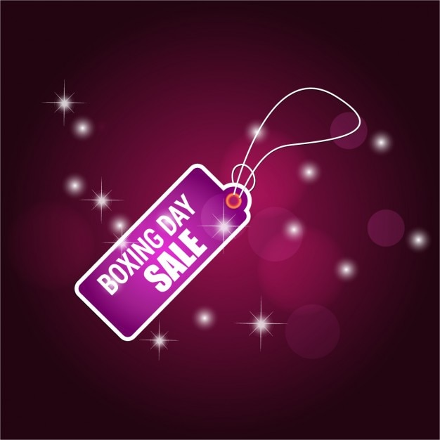 Background with purple boxing day label