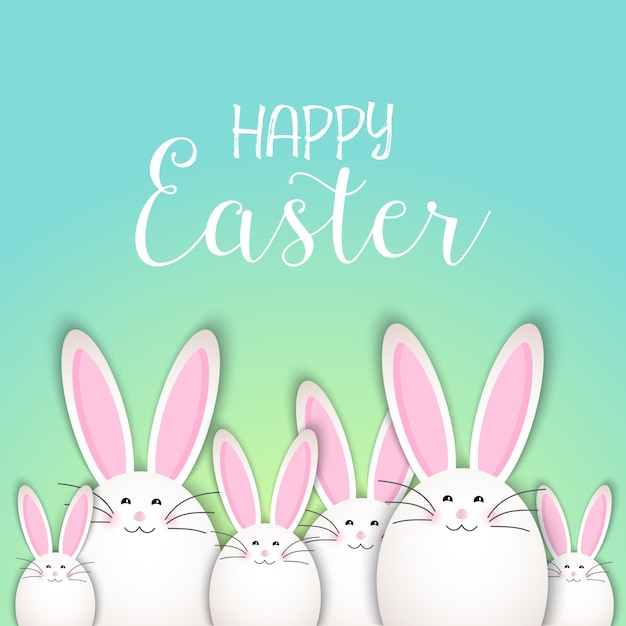 Background with rabbits for easter