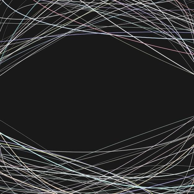 Фон со случайными изогнутыми линиями в ярких тонах сверху и снизу - векторный дизайн на черном фоне Бесплатные векторы
