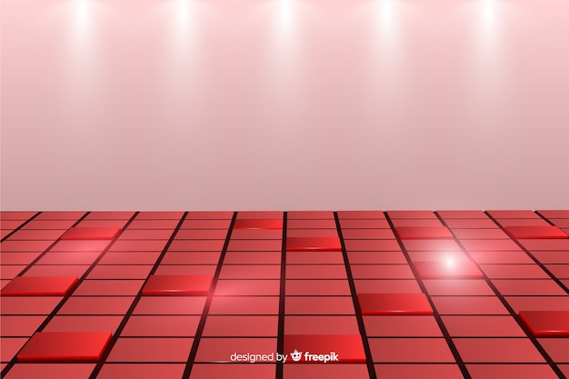 Background with realistic cubes floor Free Vector