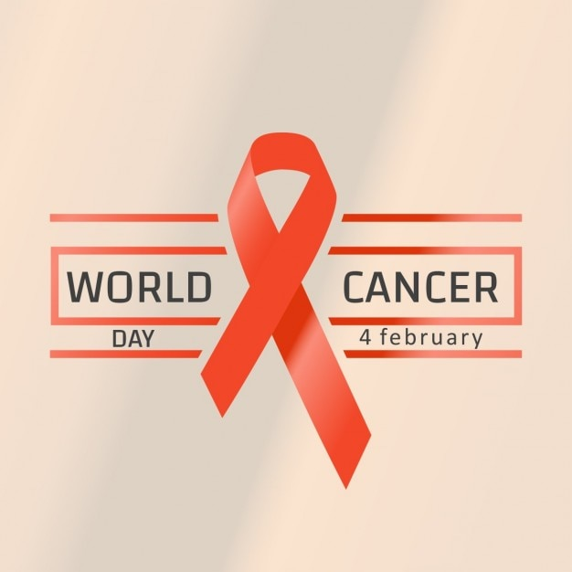 64498dd9cdf Background with a red ribbon, world cancer day Vector   Free Download