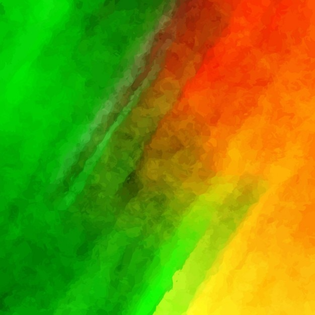 background with red yellow and green watercolors vector