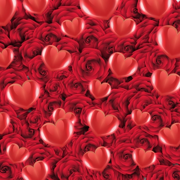 heart and roses background - photo #12