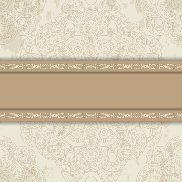 Background with round ornament Premium Vector