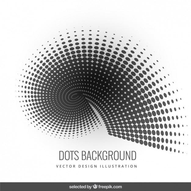 Background with shape made with black dots free vector