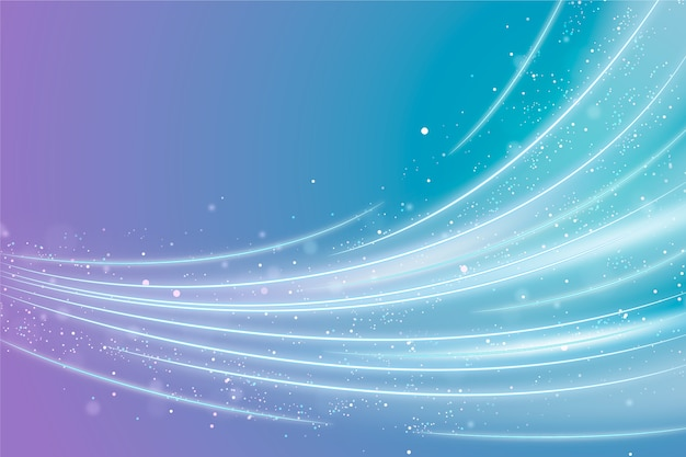 Background with shining wave design Free Vector