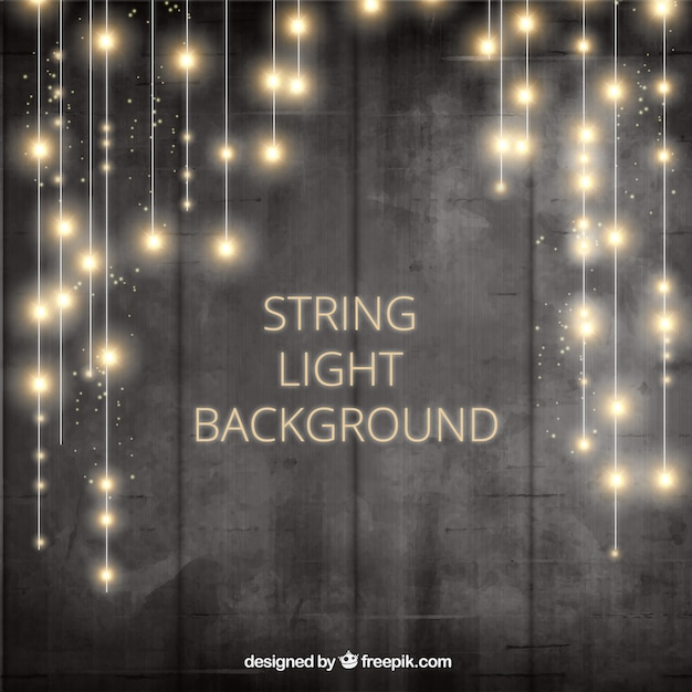 Background with shiny lightbulbs Free Vector