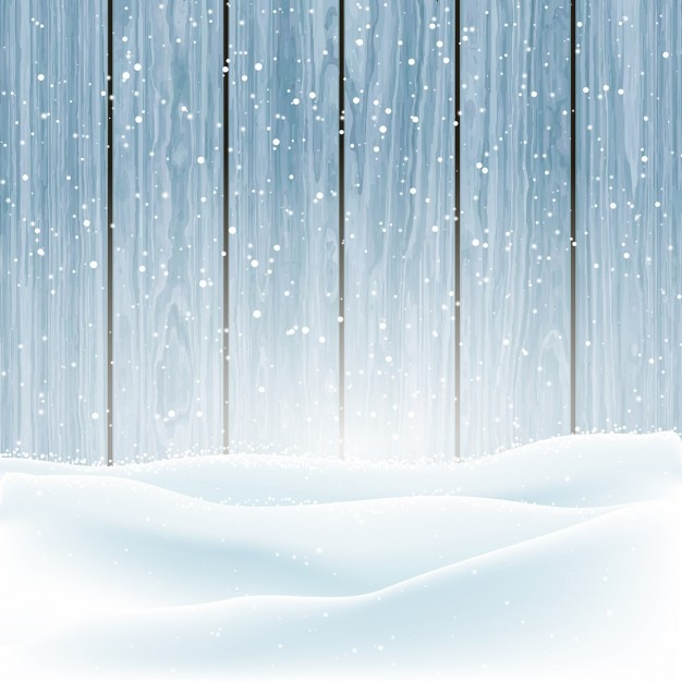 Background with snow Free Vector