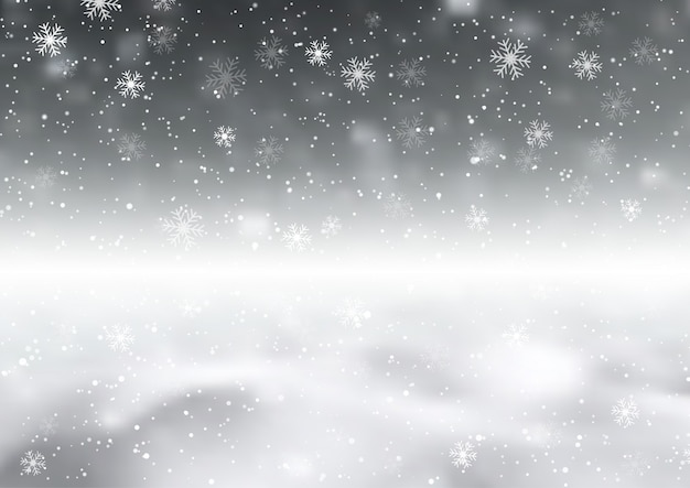 Background with snowflakes Free Vector