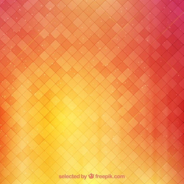 Background with squares in warm tones Free Vector