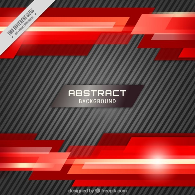 Background With Stripes And Red Abstract Shapes Vector