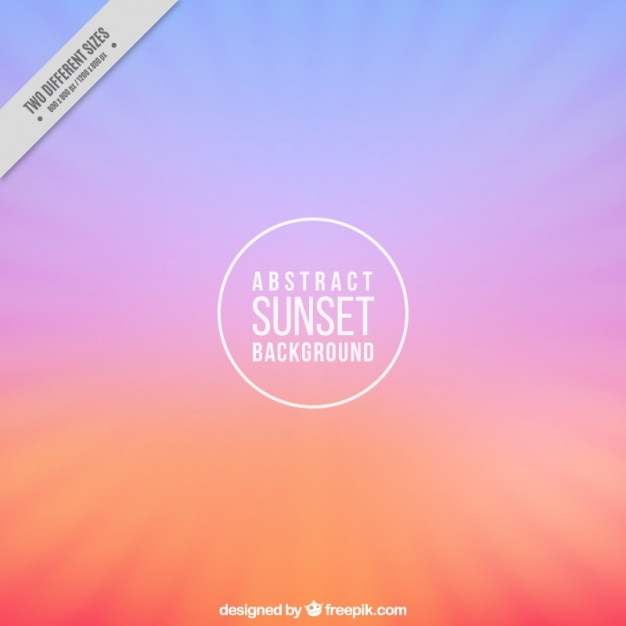 Background with sunset colors