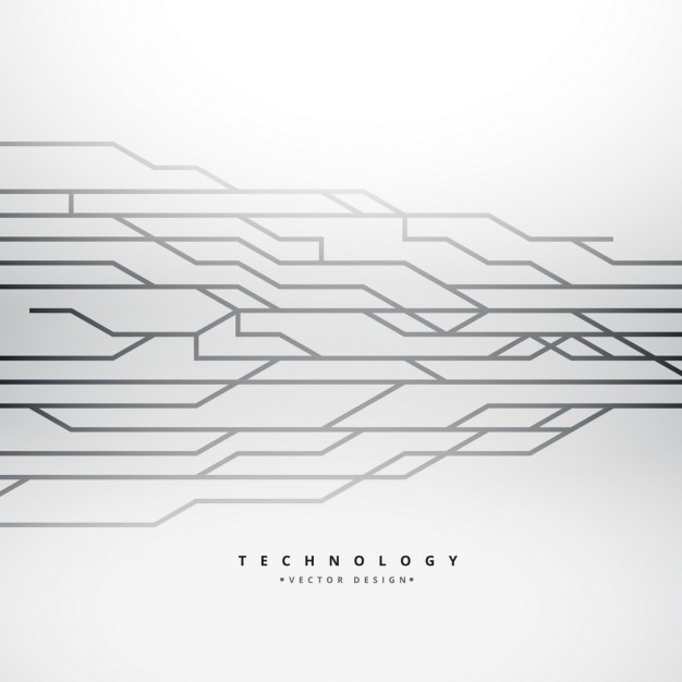Background with technology lines