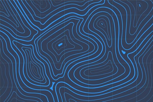 Sfondo con tema mappa topografica Vettore gratuito