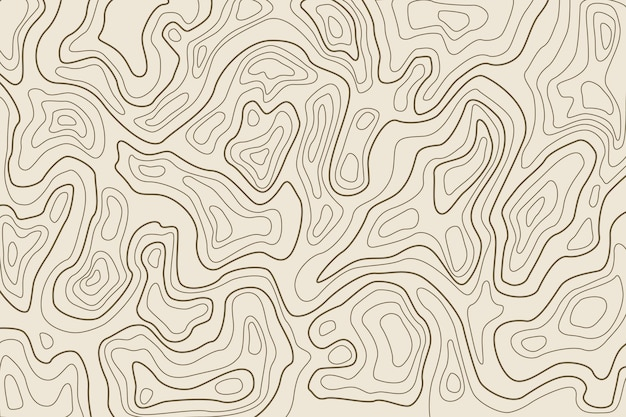 Background with topography Free Vector