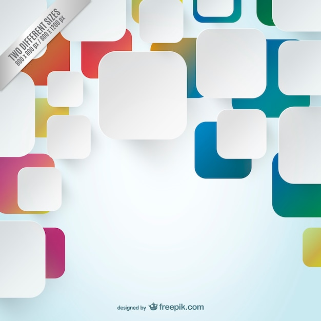 Background with white and colorful squares