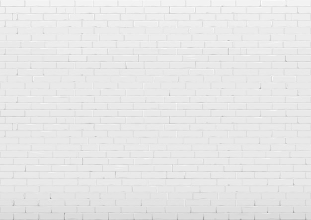 Background with white brick wall Premium Vector