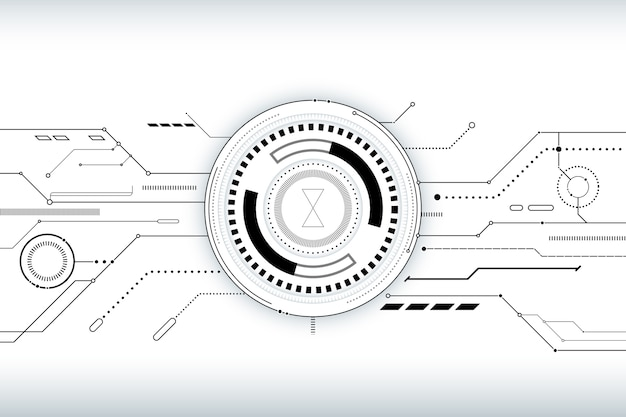 Background with white technology design Free Vector