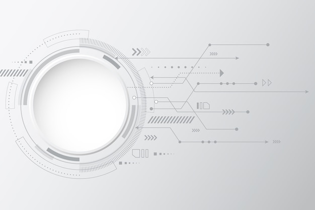 Background with white technology Free Vector