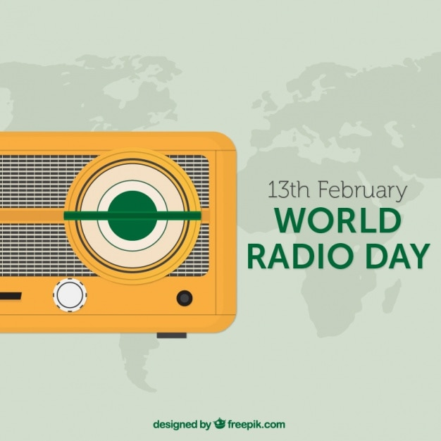 Background with yellow vintage radio and world map vector free background with yellow vintage radio and world map free vector gumiabroncs Choice Image