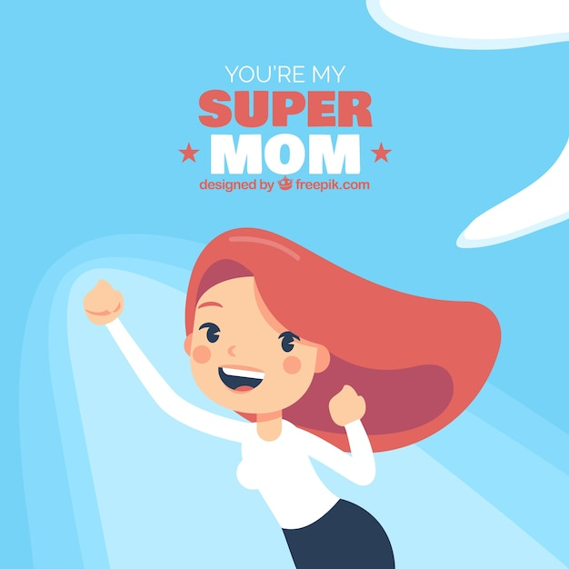 Background you are my supermom Free Vector