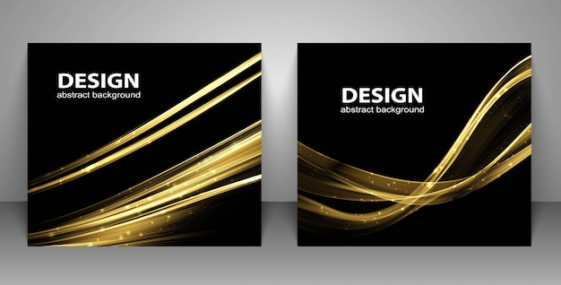 Backgrounds with abstract light wave. Premium Vector