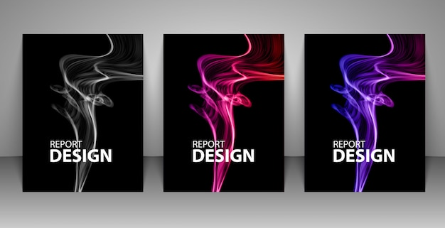 Backgrounds with colorful smoke. Premium Vector