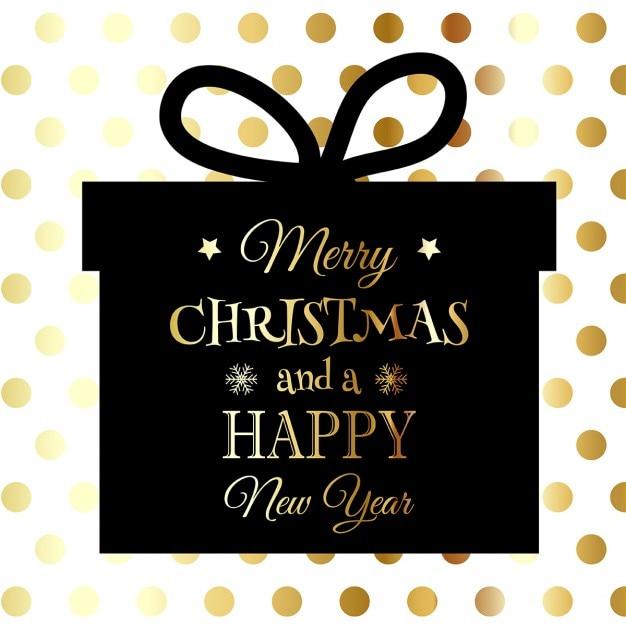 Рождество и новый год с подарком backgrund формы на фоне пятнистой Бесплатные векторы