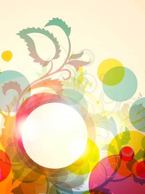 Вектор цветочные backgrund дизайн иллюстрации Бесплатные векторы