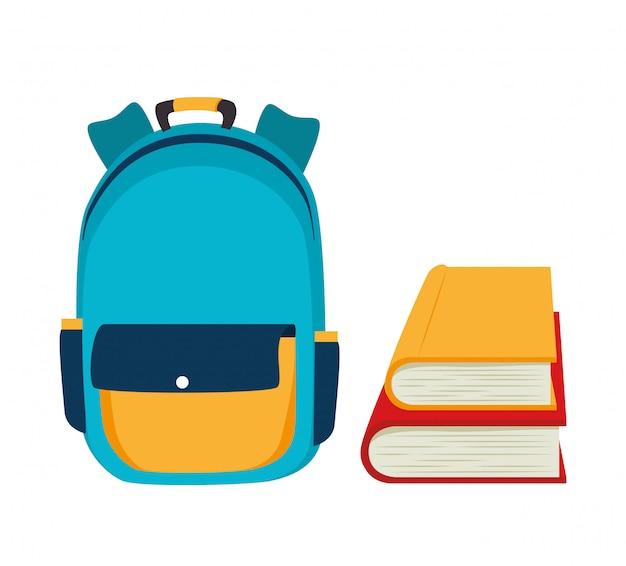 Backpack school bag design Premium Vector