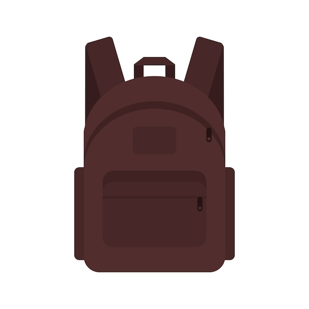 Backpack traveler marching student briefcase. Premium Vector