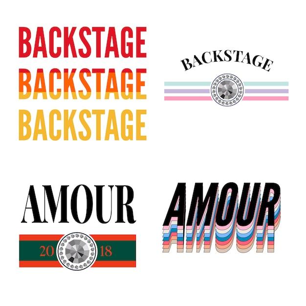 Backstage amourのスローガン Premiumベクター