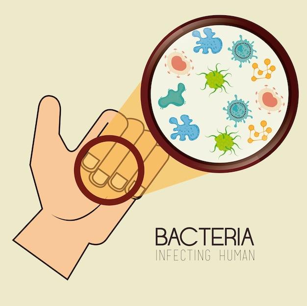 Bacteria design Premium Vector