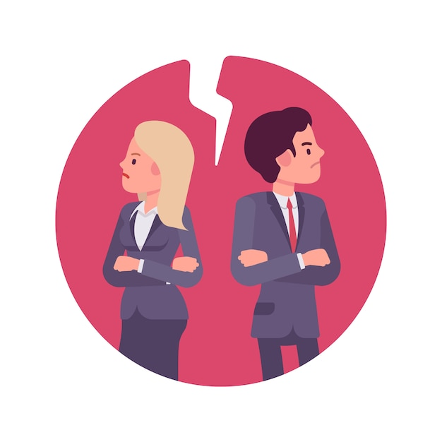Bad business relationship Premium Vector
