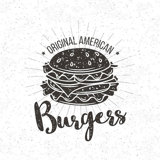 Бургер Premium векторы