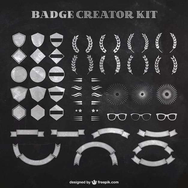 Badge Creator Kit Vector Free Download