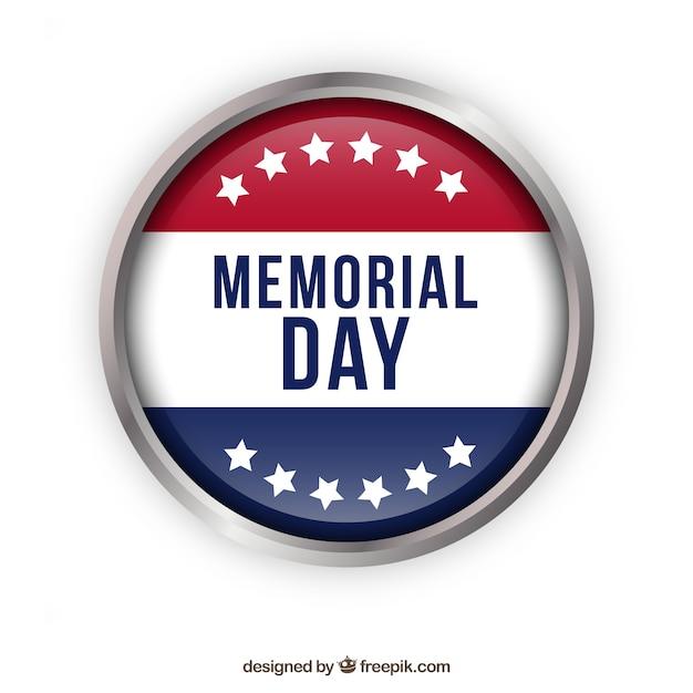 Badge of memorial day