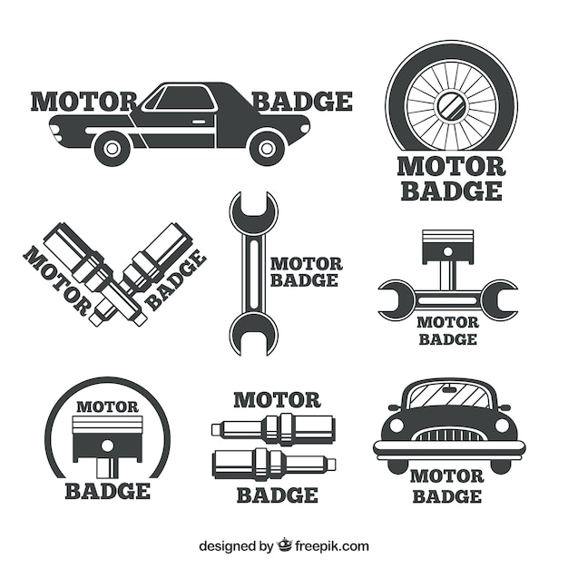 Badges for car repair shops Vector | Free Download