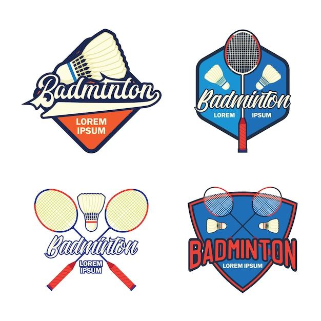 Badminton logo Premium Vector