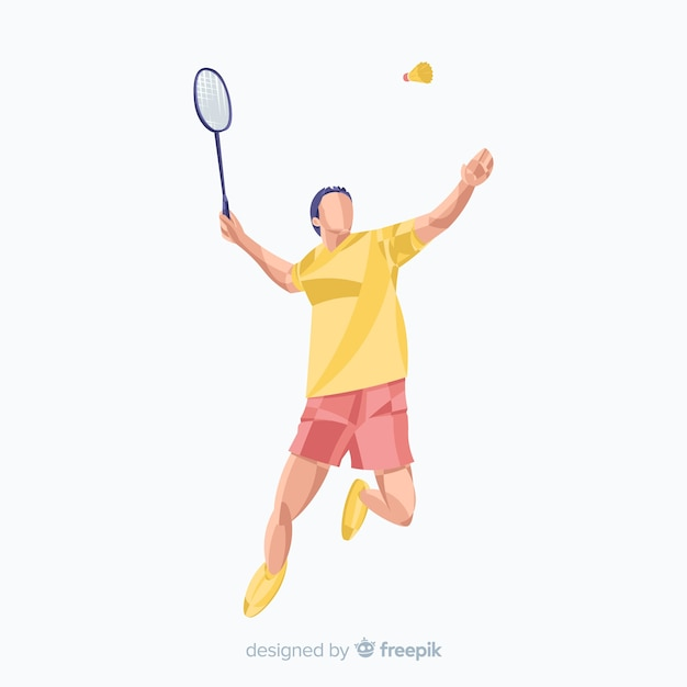 Badminton player Free Vector