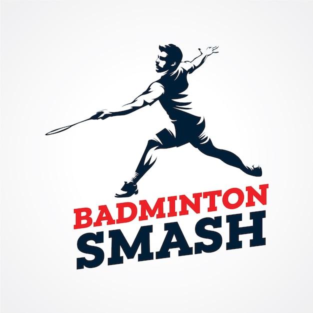 Badminton vector logo, premium silhouette vector Premium Vector