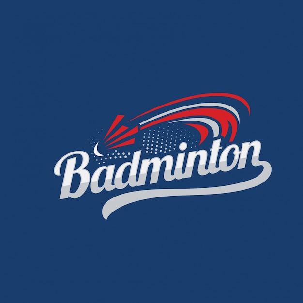 Значок логотипа badminton Premium векторы