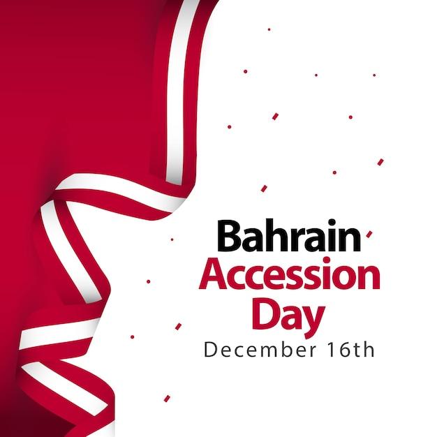 Bahrain accession day vector template design illustration Premium Vector