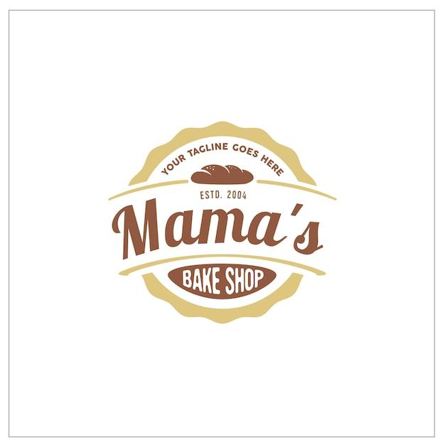 Bake shop label sticker logo Premium Vector