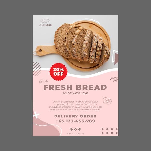 Bakery ad flyer template Premium Vector