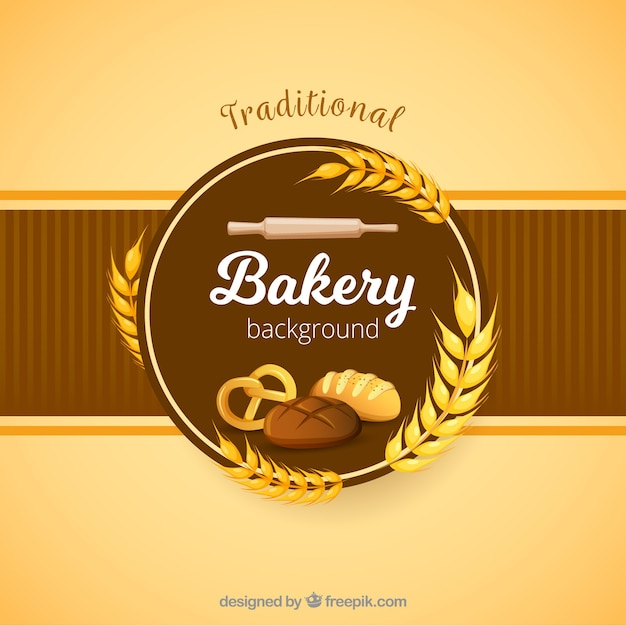 Bakery background in flat style Free Vector