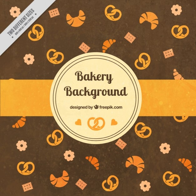 Bakery Background With Pretzels Vector Free Download